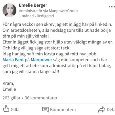 Emelie Berger – Manpower